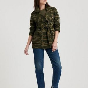 Lucky Brand Belted Utility Camo Jacket Small
